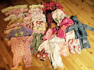 BCP de vêtements fille 0-9 mois / Baby girl clothes 0-9 months