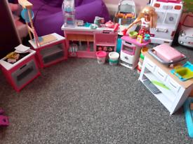 Barbie playdol cooking set