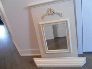 ORNATE MIRROR WITH SHELF FOR SALE