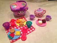 Leap Frog Picnic Basket & Fisher price Tea Set