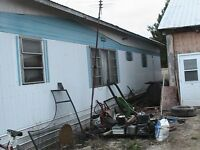 mobile home in tough shape