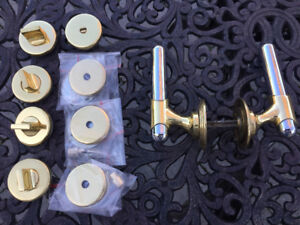 Solid Brass/Chrome Interior Door Handles