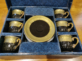 Black & Gold Coffee set