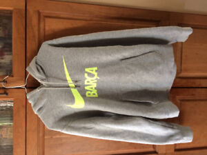 Barcelona Football nike soccer Hoodie adult small / youth XL