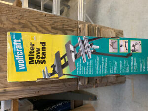 Universal Miter Saw Stands - One Brand New & Second is Assembled