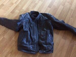 Black Leather Motorcyle Jacket