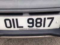 Mechanics / engineers personalised number plate valued at 1500 by national numbers