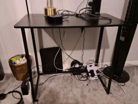 80 x 40cm Black Desk