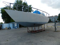 38' Steel Sailboat Built in England