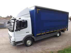2012 Mercedes-Benz Atego 816 7.5 tonne curtain with tuck under tail lift