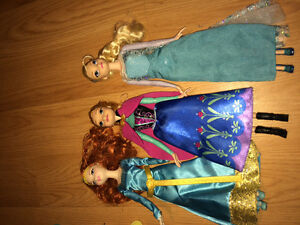 Frozen and brave  barbies for sale