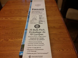 "9 Brand New T12 (34Watt) 48"" Fluorescent Bulbs + 1 Gently Used"