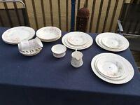 Vintage tea set with cake stands