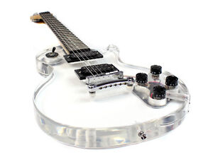 Stellah LP Style Electric Guitar with Acrylic Body (Transparent) See Through New
