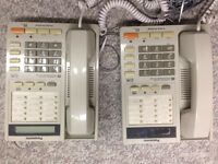 Panasonic 2-line phones with speaker and LCD display