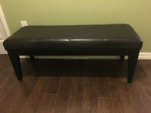 Dark brown bench— for entry way or as a bedroom bench