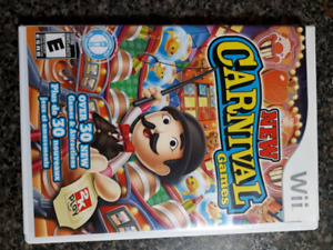 New carnival games wii. Case disc and manual.