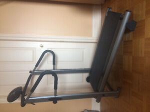 Treadmill foldable for easy transport and storage