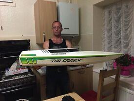 """Fun Cruiser"" Radio Controlled Boat For Sale!! Radio Gear Included"