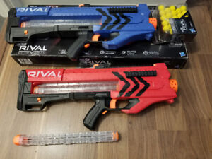 PAIR OF NERF RIVAL ZEUS MKV-1200 (RED vs BLUE) with Box & Extras