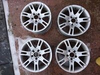 Bmw 17inch staggered alloy wheels