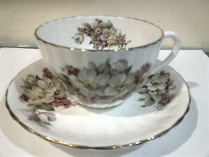 Windsor Cup & Saucer Floral On White