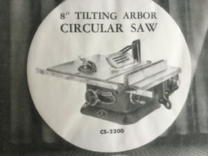 """Beaver 8"""" Tilting Arbor Circular Saw"""