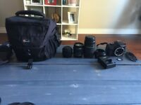 Canon Rebel T3 camera and photography bundle