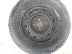 2 snow tires with rims p175 70R 13