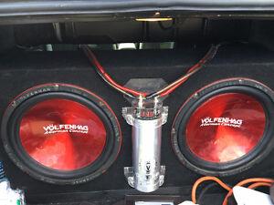 """12"""" Volfenhag Subs, AMP and Cap"""