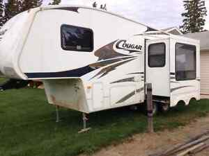 2007 cougar 245rk 5th wheel