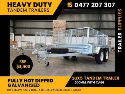 10x5 FULLY WELDED HOT DIP GALVANISED TANDEM TRAILER 2tonne Noble Park North Greater Dandenong Preview