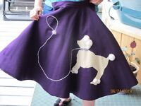 POODLE SKIRT AND PAIR SADDLE SHOES