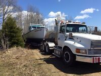 Boat hauling business