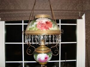 GREAT 1800'S HANGING OIL LAMP