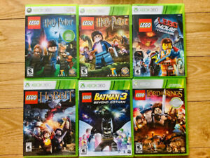 ***CHAMBLY - XBOX 360 - JEUX LEGO 20 $ CHACUN***