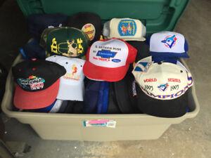 Assorted baseball hats