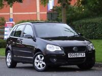 Volkswagen Polo 1.2 2009 Match 5 Door Black.. 1 LADY OWNER + 8 SERVICE STAMPS