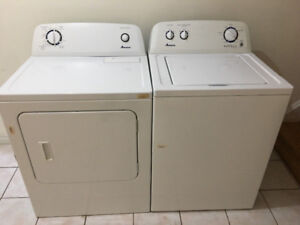 Amana white top loade washer electric dryer 350 both