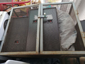 Steel propane safety cage