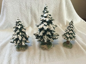 Dept 56 village snowy scotch pines (retired) Windsor Region Ontario image 1