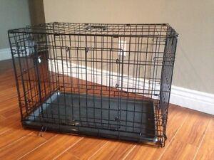 Medium double door dog crate