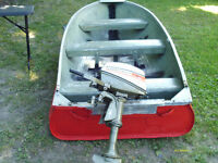 4hp johnson with 12 ft boat
