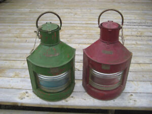 2- SHIPS LIGHTS  GREAT MAN CAVE ACCENTS   $250 EACH
