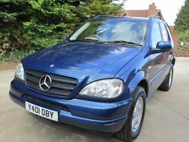 Mercedes-Benz ML 270 7 Seats 61K From New FMBSH ** NOW SOLD**
