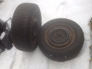 Used snow tires from Mazda MPV