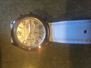 Michael Kors Rose Gold Womens Watch and White Leather Watch