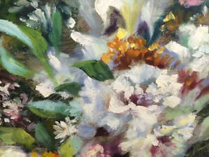 Original Floral Painting by S. Easton London Ontario image 4