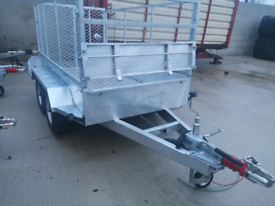 Heavy duty galvanised 8x4 trailer with meshsides ramp builders quad
