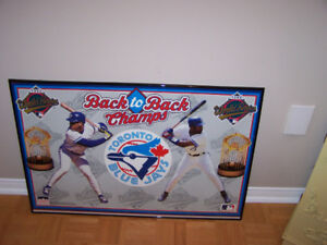 23 x 35 in TORONTO BLUE JAYS WORLD SERIES FRAMED PICTURE